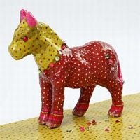 A Papier-Mâché Horse with Decoupage