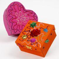 Papier-Mâché Boxes with Glitter Glue