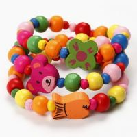 Bracelets with Wooden Beads