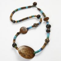 A Necklace with Native American Beads