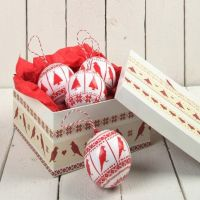 Polystyrene Balls with Decoupage Paper