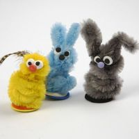 Small Animals made from Pipe Cleaners and Silk Clay