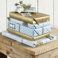 Gifts in Blues and Gold