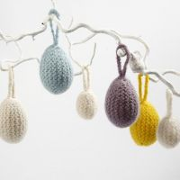 Eggs Wrapped in Felted Knitting