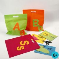 A Multi-Purpose Bag with Felt Letters