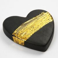 A Terracotta Heart with Gold Art and Craft Foil