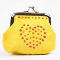 A Purse decorated with Dots made with 3D Liners