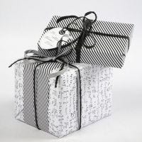 """Gift Wrapping using Vivi Gade """"Paris"""" Design Wrapping Paper"""