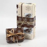 """Gift Wrapping using Vivi Gade """"Oslo"""" Design Wrapping Paper"""