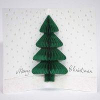 A Christmas Card with a Concertina Christmas Tree
