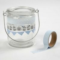 Lanterns decorated with Masking Tape