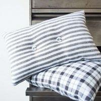 A decorative Cushion made from a Tea Towel