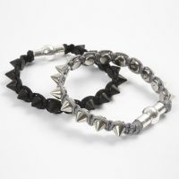 A Braided Bracelet with Metal Rivets