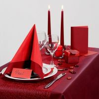 Party Inspiration with red Table Decorations etc.