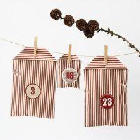 A Christmas Calendar made from Stripy Vivi Gade Design Bags