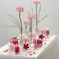 White and rose Happy Moments Table Decorations