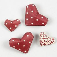 Miniature-sized Hearts made from Paper Star Strips