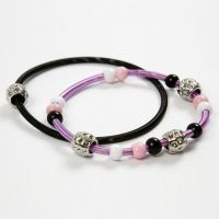 Coiled Metal Bracelets with Beads
