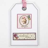 A Post Card as a decorated Gift Tag