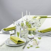 White and green Table Decorations from Happy Moments