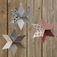 A 3D Star from punched-out Vivi Gade Design Paper