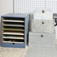 A Storage Unit and a Box Set decorated in a Vintage Look
