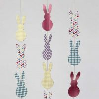 Vertical Easter Bunny Card Bunting