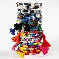 A Bracelet made from Katsuki Beads and Tassels