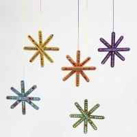 A Star from Ice Lolly Sticks, decorated with Rhinestones