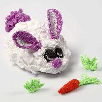 A Foam Clay Bunny on a mechanical Movement