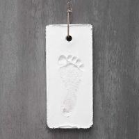 A white Plaster Imprint