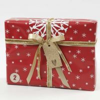 Red, white and gold Gift Wrapping