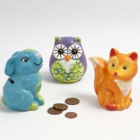 A Money Box decorated with Paint and Markers