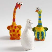 Birds made from Polystyrene and Bonsai Wire covered with  Papier-mâché Pulp
