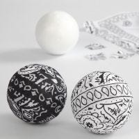 A Ball covered with Bandana with a Paisley Pattern