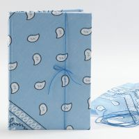 A Notebook with Bandana on the Cover