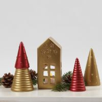 Terracotta Christmas Decorations painted with Art Metal Paint
