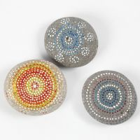 Painting on Stones with Skrib Markers