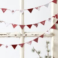 Bunting made from small Vivi Gade Design Paper Flags