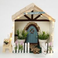 A small Fairy House in a Storage Box