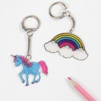 A Unicorn Keyring Fob from Shrink Plastic