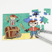 A Pirate Jigsaw decorated with Marker Pens