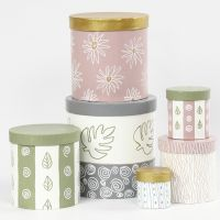 Boxes decorated with Craft Paint
