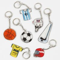 Shrink Plastic Keyring Fobs with a Sport Theme