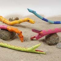 Stick Animals decorated with Plus Color Markers