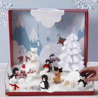 Winter Wonderland with Foam Clay Miniature Figures