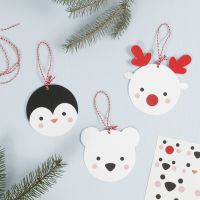 Hanging Card Polar Animal Decorations