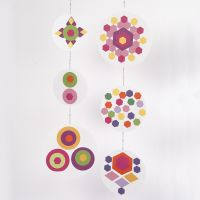 A Mobile from Collages of coloured Paper