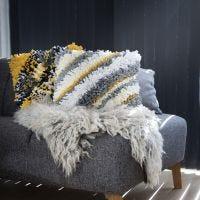 A Rya Cushion from Fabric Yarn