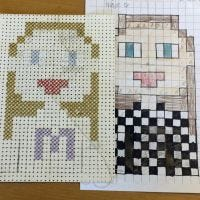 Pixel Art with Cross Stitches